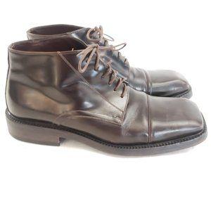 🤎 Avitto Italian Square Toe Lace Boots Sz 42.5 🤎